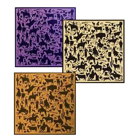 Cowboy Silhouette Silk Printed Jacquard Scarves (Available After January 5th) WTCWSI
