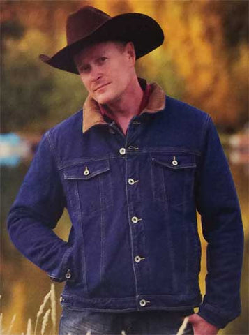 Best Winter Seller! Wyoming Traders Fleece Lined Cowboy Denim Jacket - WYDenm
