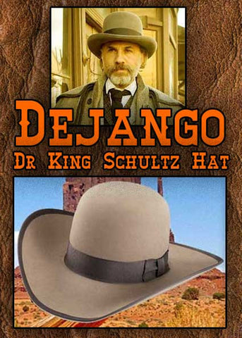 Old West 3X Blend Freedom Ridge Dejango Dr. King Schultz Style Hat -Pecan