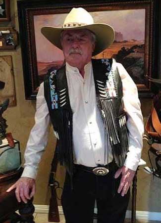 Elvis Style Fancy Rodeo Soft Smooth Leather Eagle Beaded Vest
