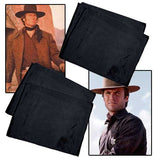 Clint Eastwood Style 100% Silk Black Scarf - As Worn Hang'Em High And Joe Kidd