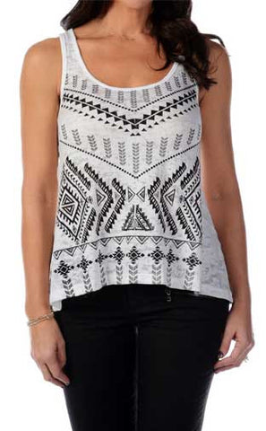 Liberty Wear Diamond V Tank Top- White