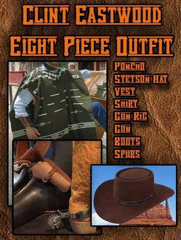 Clint Eastwood Spaghetti Western Eight Piece Outfit
