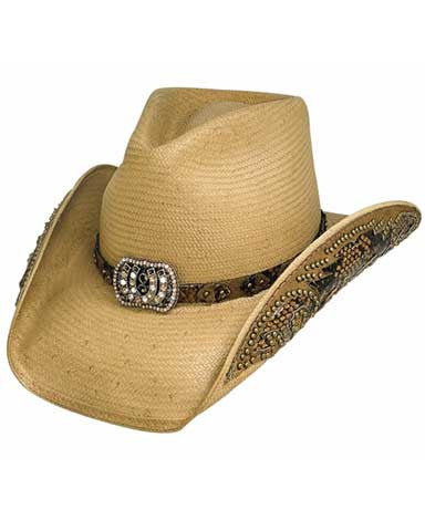 Best Seller! Cowgirl Fantasy Bullhide Shantung Straw Hat - Natural Or Black 2640BH