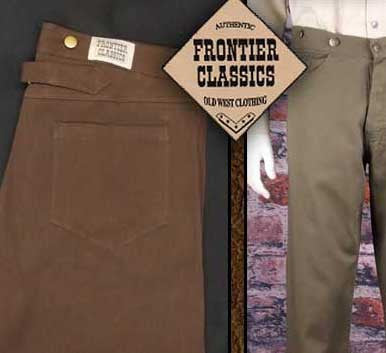 Frontier Classics Old West Cowboy Pants Fits Like Jeans!