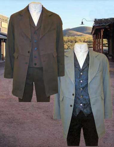 Doc Holliday Style Gunfighter Frontier Classics Old West Outfit - Coat - Vest And Trousers