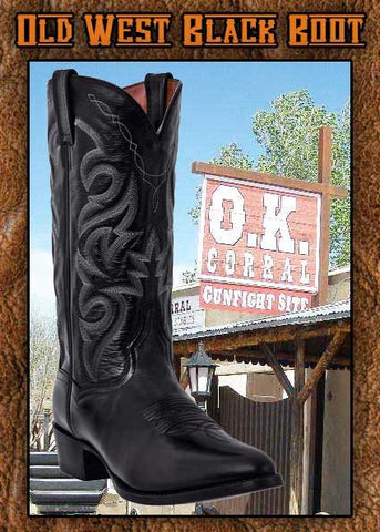 "Old West ""Wyatt Earp/Gunslinger"" Black Boot"