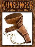 Deluxe Tooled Tan Leather Western Holster -Two Colors