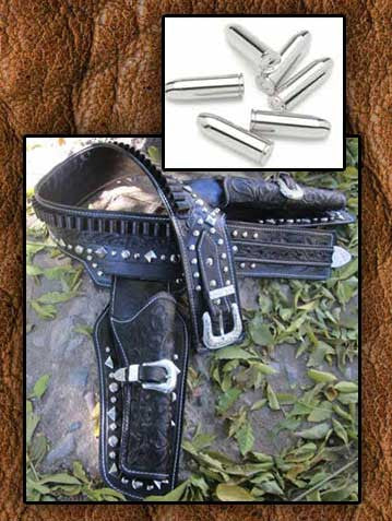 Lone Ranger Museum Quality Double Holster Gun Belt Reproduction