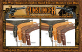 Best Seller! Old West Hand Tooled Double Holster Gun Rig
