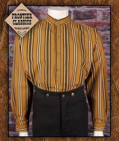 Frontier Classics Old West Hombre Cowboy Shirt- Tobacco stripe