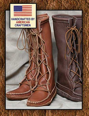 Cowhide Softsole Knee High Moccasin Boots- Made In The USA