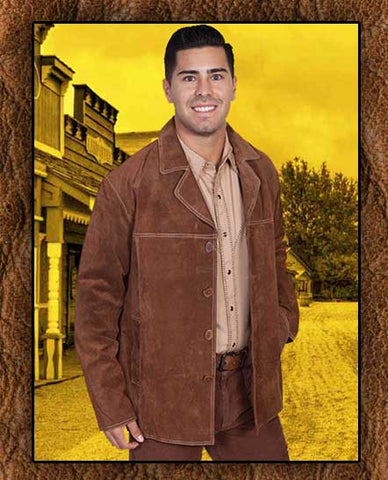 Scully Western Suede Frontier  Dejango Style Four Button Coat Three Colors