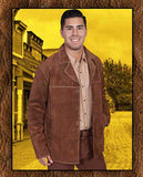 Scully Western Suede Frontier Gunsmoke James Arness Style Four Button Coat Three Colors