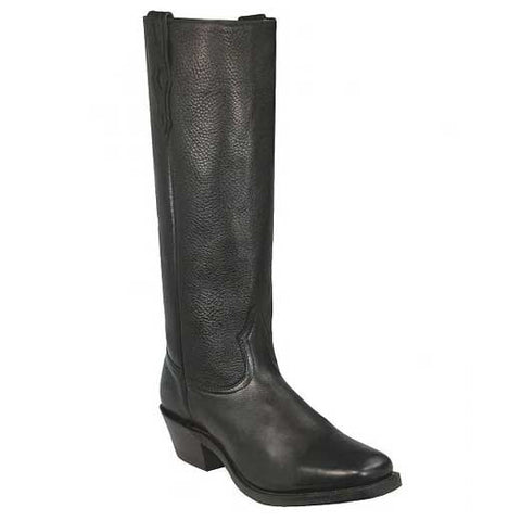 Available In January! Old West Black Tall Shooter's Boot - Deertan Shaft - Vintage Square Toe