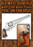 The Gun: Old West Schofield Wyatt Earp Nickel Finish Pistol - Non-Firing Replica