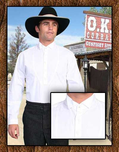 Doc Holiday Style Scully Old West  Tombstone White Shirt