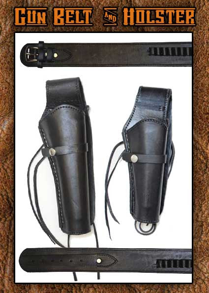 Wyatt Earp  Smooth Leather Holster Short And Gun Belt