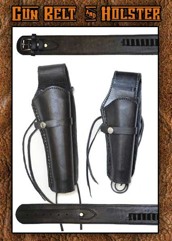 Wyatt Earp  Smooth Leather Holster Long And Gun Belt