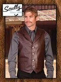 Scully Western Soft Lambskin Notched Lapel Vest
