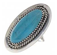 Navajo Turquoise Pointer finger Ring Ladies