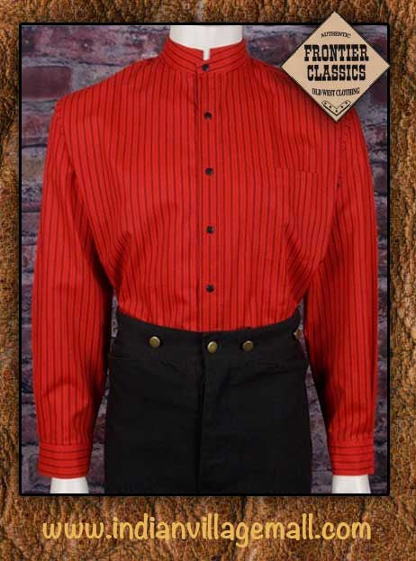 Frontier Classics Old West Ponderosa Shirt Collection -Red