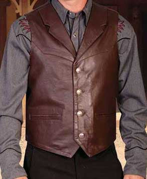 Gunsmoke Style Soft Lambskin Notched Lapel Vest
