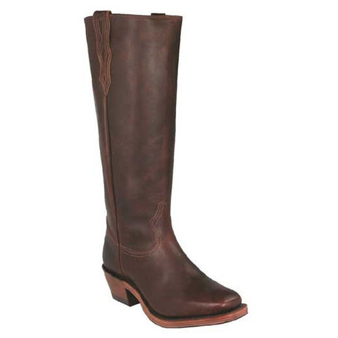 Available In January! Old West Brown Tall Shooter's Boot - Deertan Shaft - Vintage Square Toe