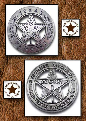 Old West Texas Rangers Badges