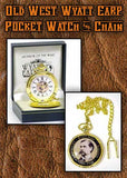 Wyatt Earp Old West Pocket Watch from Tribal And Western Impressions