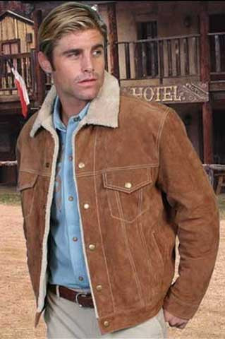 Gunsmoke Style Scully Western Suede Jean Jacket -Three Colors