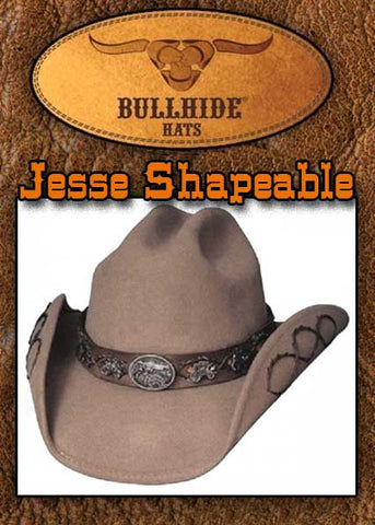 Bullhide Montecarlo Jesse James  Old West Shapeable Cowboy Hat
