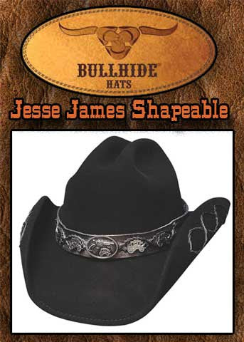 Jesse James Gunfighter Bullhide Wool Hat