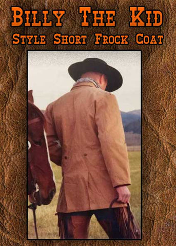 Billy The Kid Style  Short Canvas Frock Coat -Three Colors
