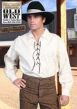 A Best Seller! Scully Classic Old West Pull Over Men's Lace-Up Shirt- Natural