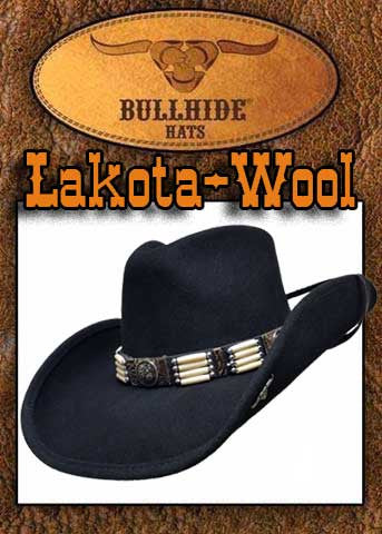 Lakota ! Bullhide Pinched Front Native Inspired Cowboy Hat