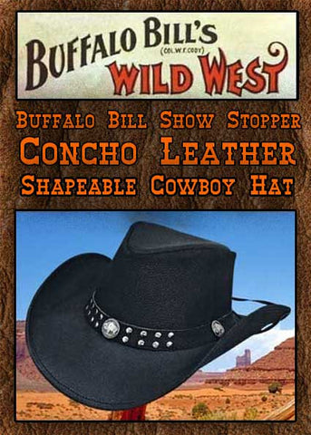 Buffalo Bill Show Stopper  Montecarlo/Bullhide Altson Leather Buffalo Nickel Hat