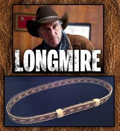 Five Strand Double Knot Longmire Genuine Horsehair Hat Band