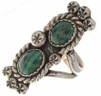 Malachite Silver Ladies Navajo