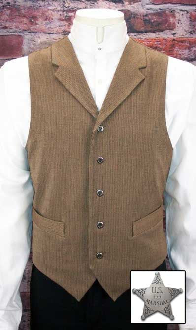 Old West Marshall Outfit - Vest- Shirt - Trousers -Star Badge