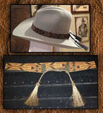 Horsehair Tassel Pull Beaded Hatbands- 15 Colors!