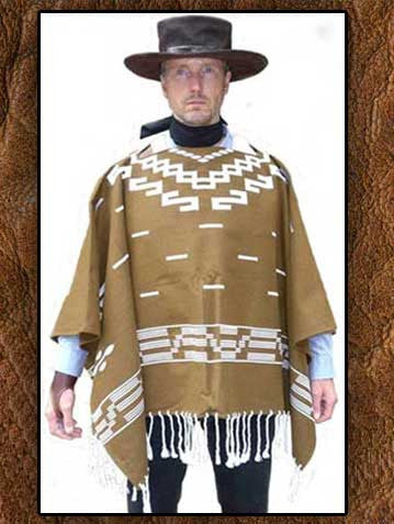 Fine Museum Quality Light Weight Clint Eastwood Movie Set Poncho Reproduction