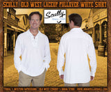 Scully Brand Old West Lace Front Shirt- White