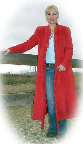 Special! Western Red Long Coat  $148.00
