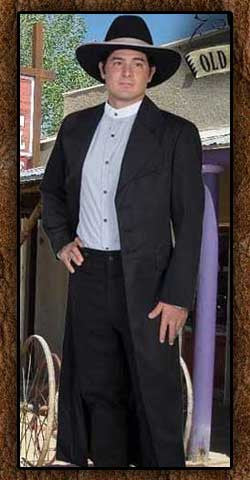 Authentic Wyatt Earp Style Long Tombstone Wahmaker Frock Coat Replica-567009