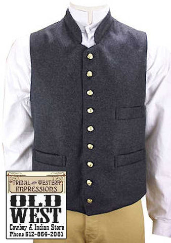 Civil War Confederate Richmond Three Piece Outfit Vest -Shirt And Trousers