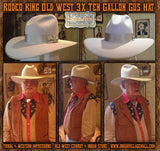 Rodeo King Old West 3X Ten Gallon Gus Hat- Silverbelly