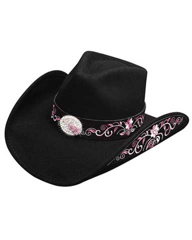Best Seller! Bullhide Montecarlo Rockin To The Beat - Shapeable Wool Cowgirl Hat -0632BLBH