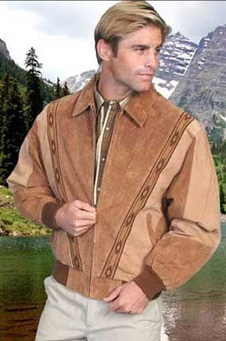 Scully Southwestern Motif Suede Two Tone Rodeo Jacket