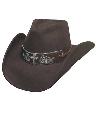 Best Seller! Montecarlo Bullhide State Of Grace  Premium Wool Western Cowboy Hat -Black Or Chocolate